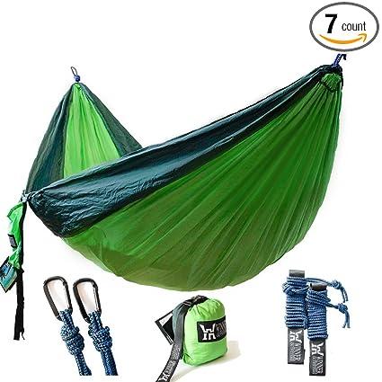 Winner Outfitters Double Camping Hammock   Lightweight Nylon Portable  Hammock, Best Parachute Double Hammock For Backpacking, Camping, Travel,  Beach, Yard.
