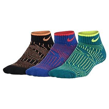 Nike 3P YTH Boys Graphic CTN Cush - Pack 3 Pares Calcetines para niño, Color