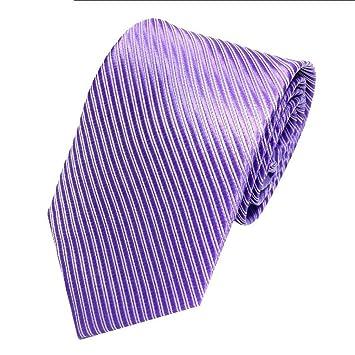 Wawer Mens Classic Jacquard Formal corbata color sólido Tejido a ...