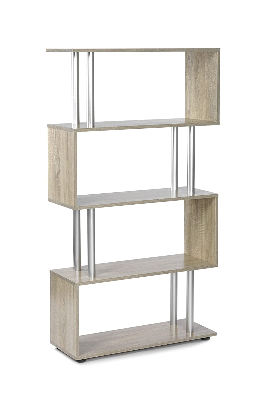 ts-ideen Libreria divisoria Mensoliera 148x60 cm color Rovere Sonoma 13025