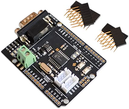 CAN Shield Expansion Board Connected to The car CAN Bus Communication Protocol