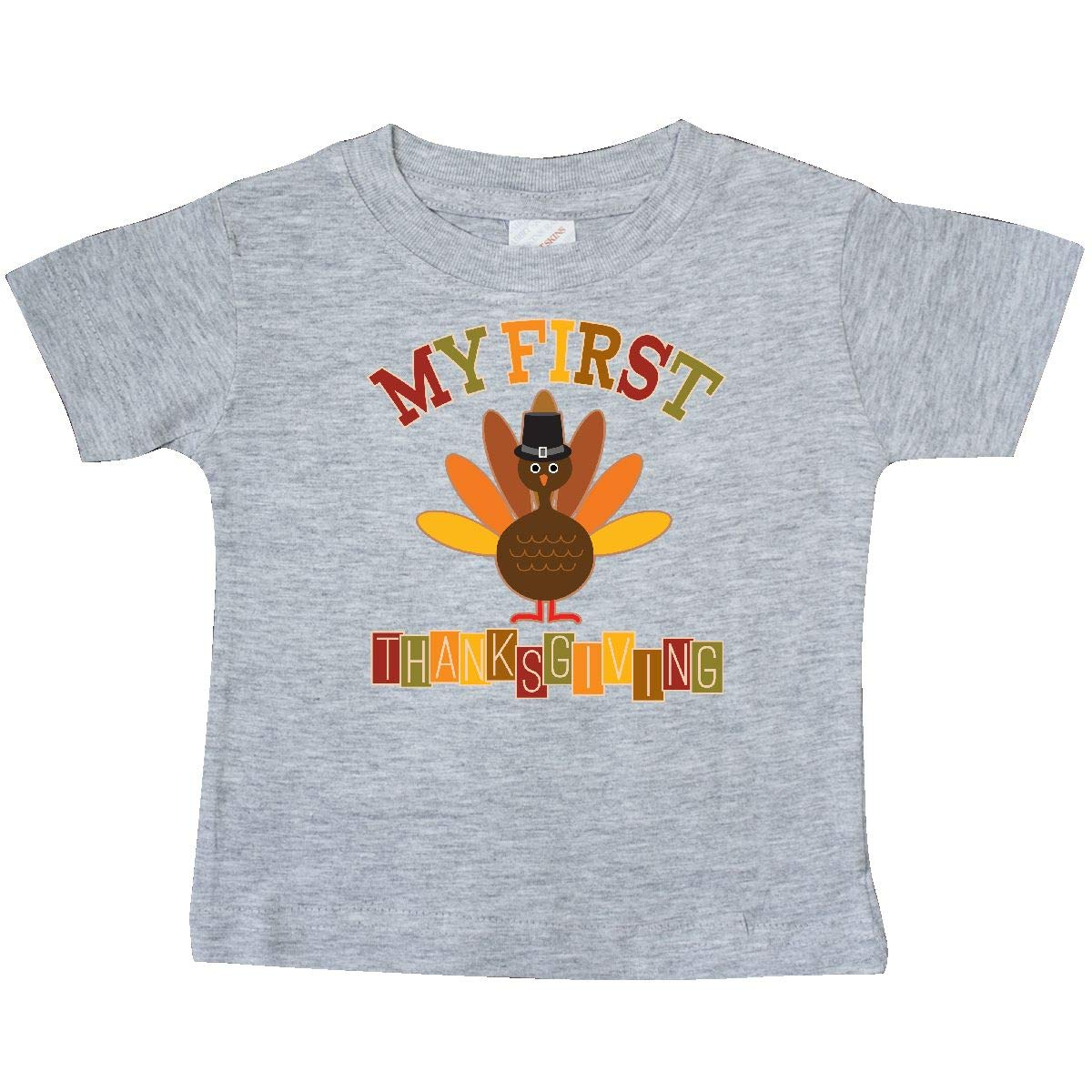 inktastic My First Thanksgiving Day Turkey Baby T-Shirt
