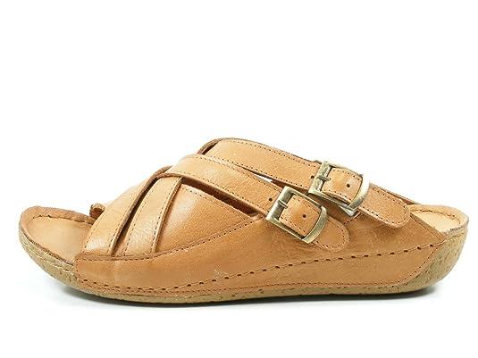 Andrea Conti 0771516 Schuhe Damen Sandalen Pantoletten, Schuhgröße:42, Farbe:Braun