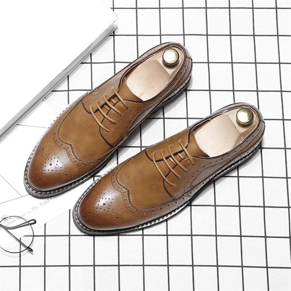 Easy Go Shopping Herren Business Oxford Casual einfache Klassische britische Stil Formale Schuhe,Grille Schuhe