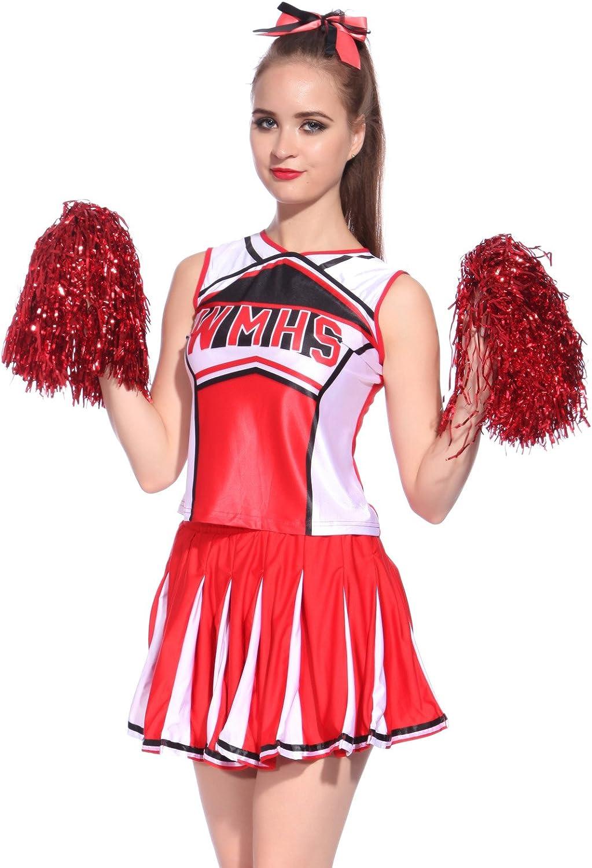 Anladia - Disfraz de Animadora para Adulto Mujer High School Color ...