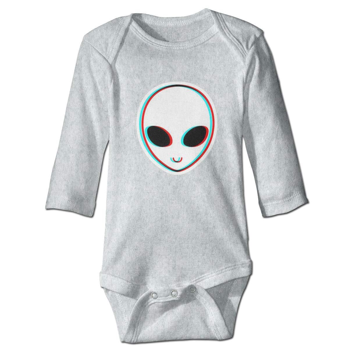 Dfenere Trippy Alien Hip Hop Newborn Baby Long Sleeve Bodysuit Romper Infant Summer Clothing