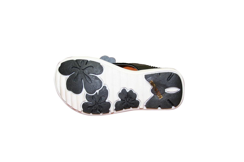 Happy Bull Toddler Girls Elastic Slip On w//Flower Flat Sandal