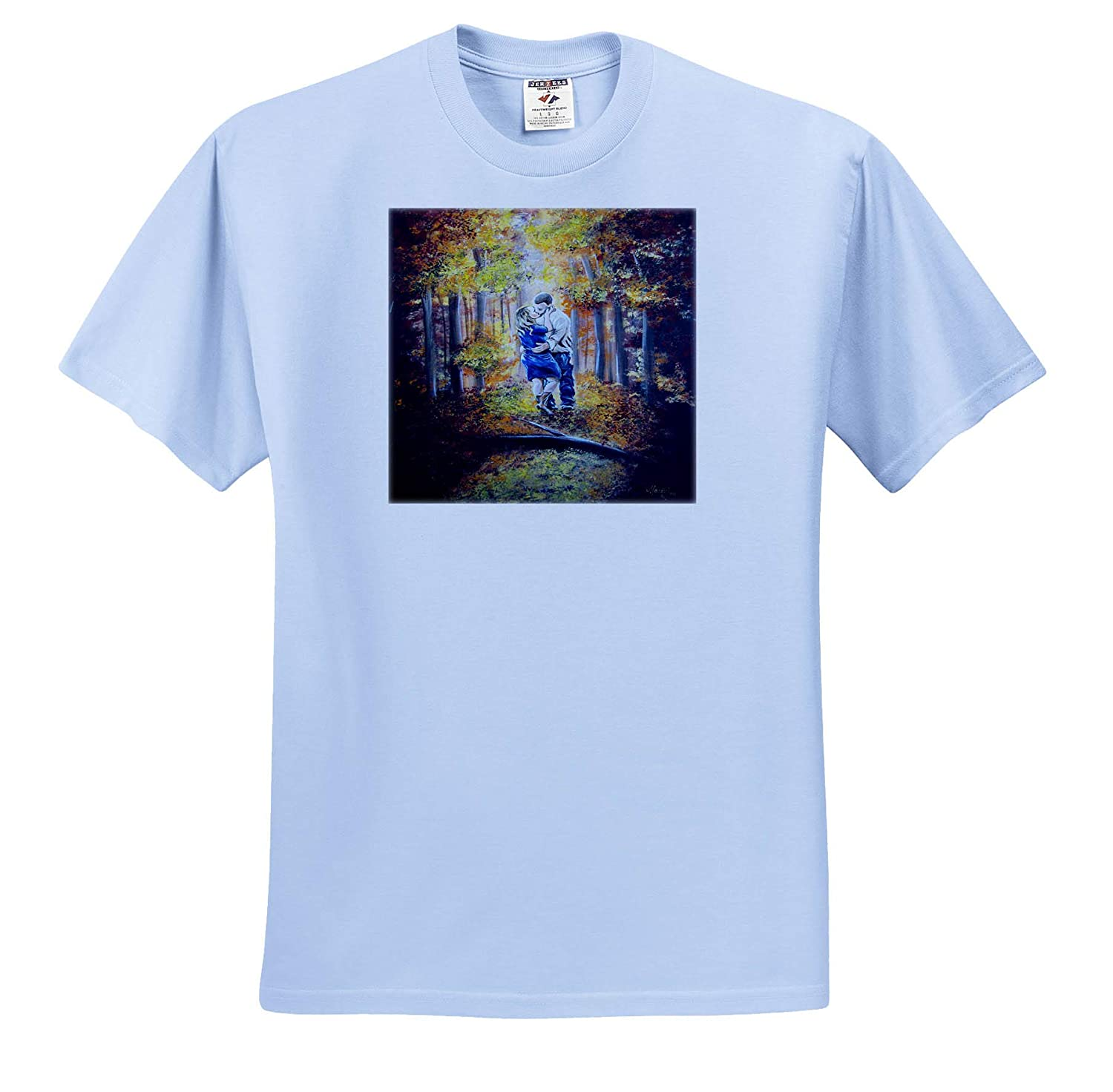 Trees People - T-Shirts 3dRose Art by Mandy Joy an Image of a Couple Kissing in a Forest