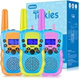 Toys for 4-12 Year Old Boys or Girls, Selieve 3 Pack Walkie Talkies Outdoor Indoor Stem Toys 3 KM Range 22 Channels 2 Way Rad