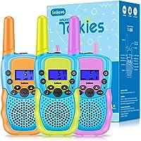 Walkie Talkie 3 Pack Niños Selieve Juguetes para Niños Niñas de 3-8 Años 3 KM de Largo Alcance con 8 Canales, Regalos…