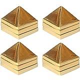 Krisah® 4 pcs Fengshui Vastu Metal Pyramid (Set of 3 : 91 Pyramids in Total) Golden Color Big Size (4)