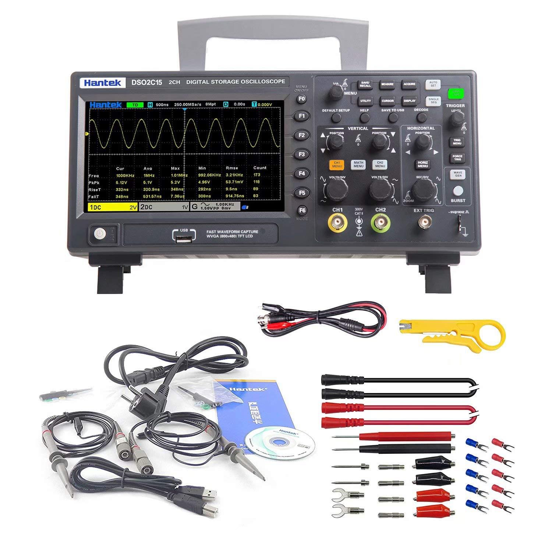 Hantek DSO2C15 2 CH Benchtop Oscilloscope, 150MHz 1GS/s