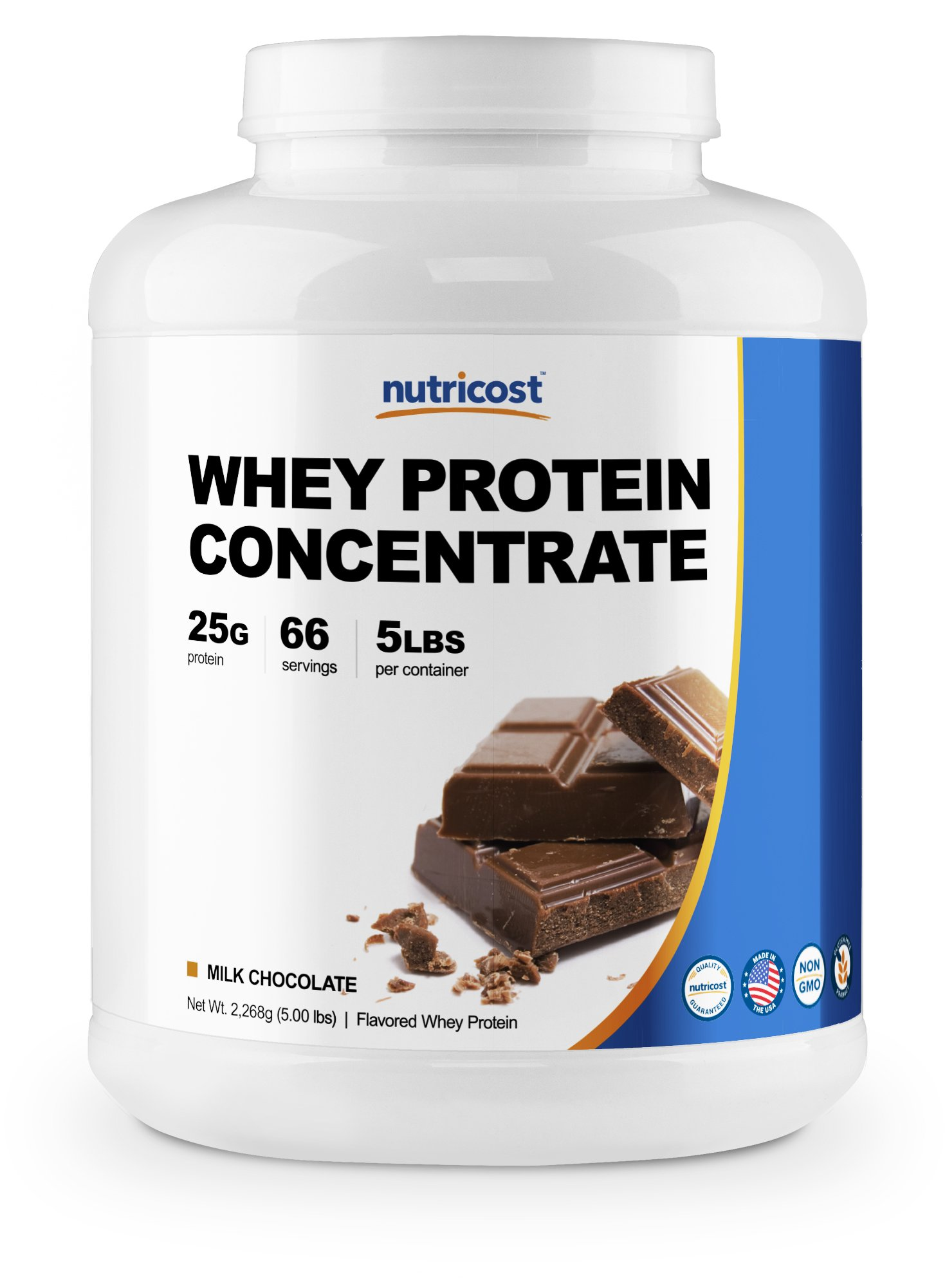 Nutricost Whey Protein Concentrate (Chocolate) 5LBS by Nutricost