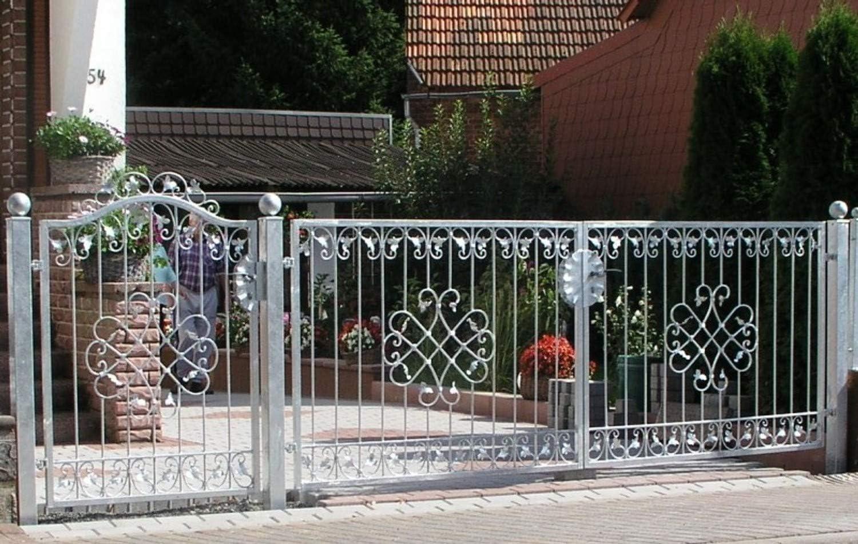 Entrada Anlage–Puerta hoftor Jardín Metal Hierro forjado Monaco de gft500/100galvanizado Premium einfahrts Tor 500x 100cm