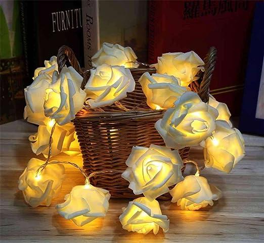 33 opinioni per Lerway 2.2M LED Rose Fata Fiore Flessibile 20 Rosa Luci Stringa per Giardini,