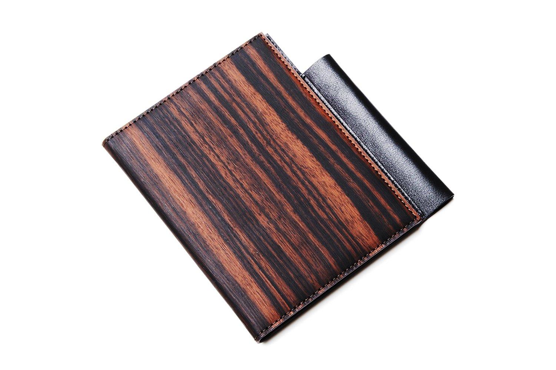 higgie memo holder (m) Note Holder (m) BLACK x BLACK ebony, cowhide (natural wood used) 20,915,101 (japan import)