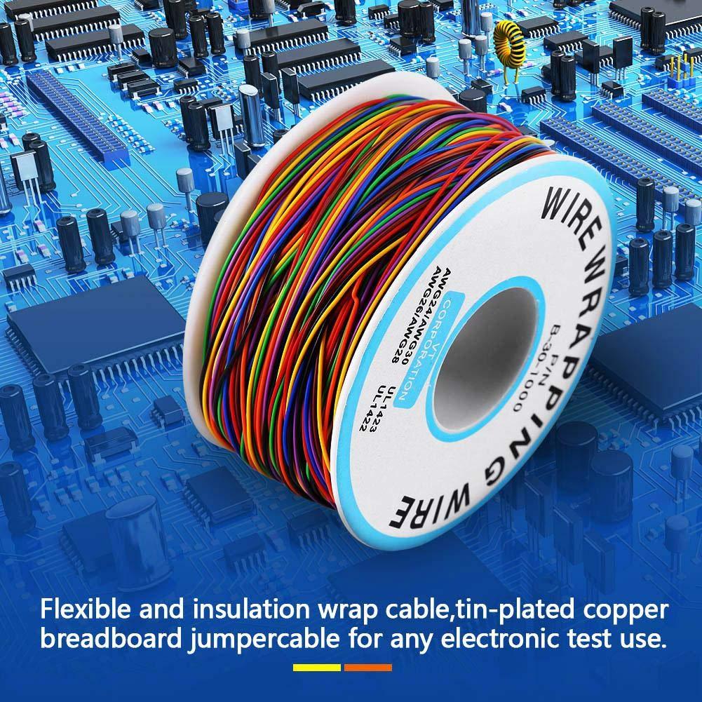 Cable el/éctrico Fydun colorido P//N B-30-1000 280M Color de 8 hilos Envoltura de aislamiento Cable de prueba de cobre Cable de extensi/ón Cable de alambre