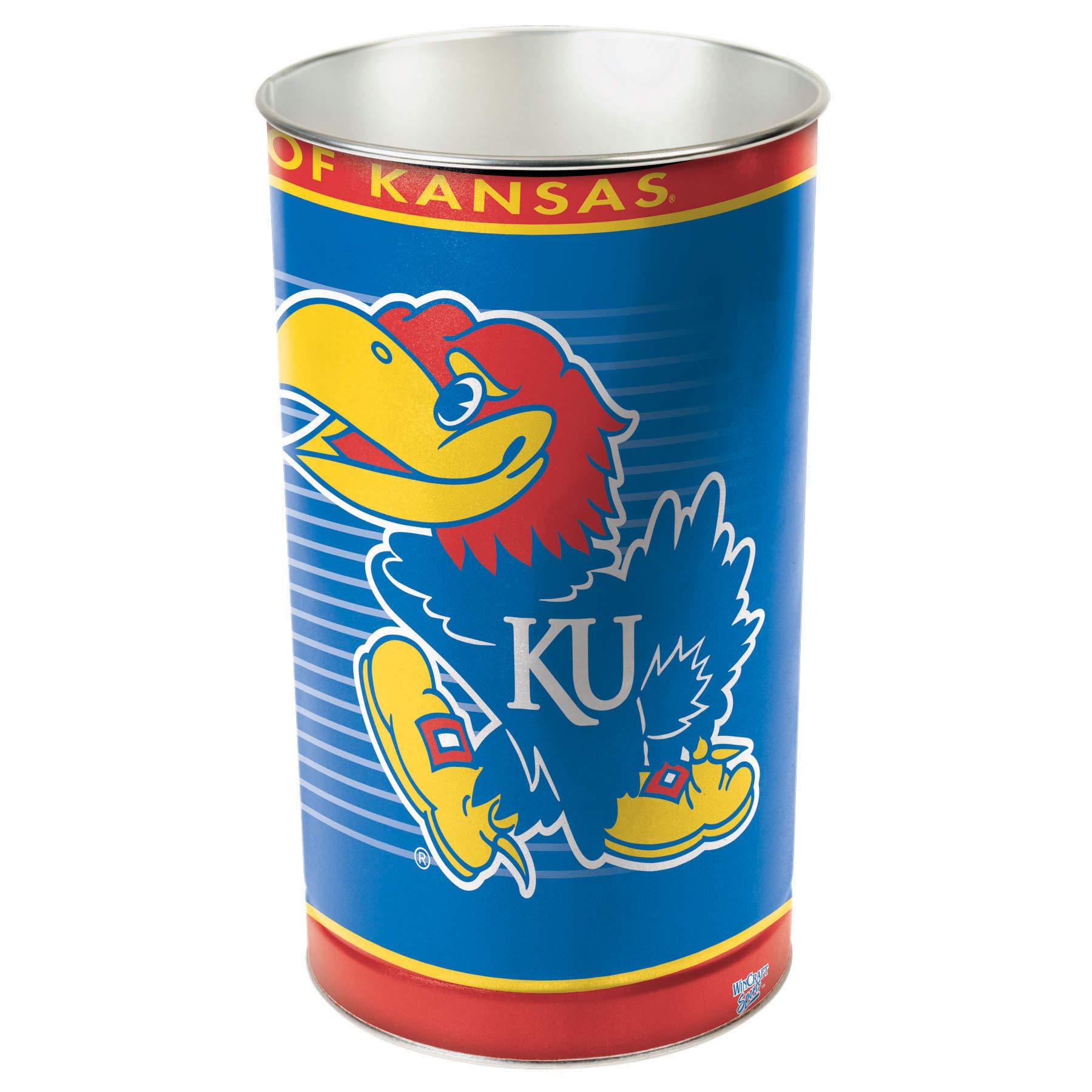 NCAA Kansas Jayhawks Wastebasket