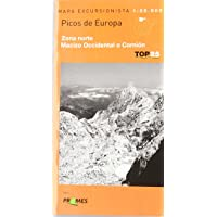 Picos de Europa, Mapa de Zona Norte, Macizo Occidental o Cornion (Top 25 (prames))