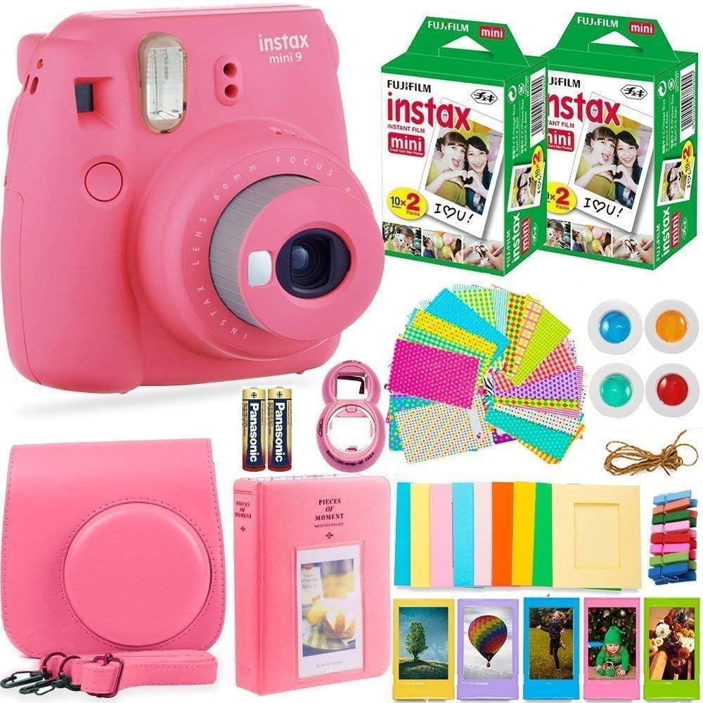 Fujifilm Instax Mini 9 Cámara instantánea + película Fuji Instax (40 hojas) + baterías + paquete de accesorios: Amazon.es: Electrónica