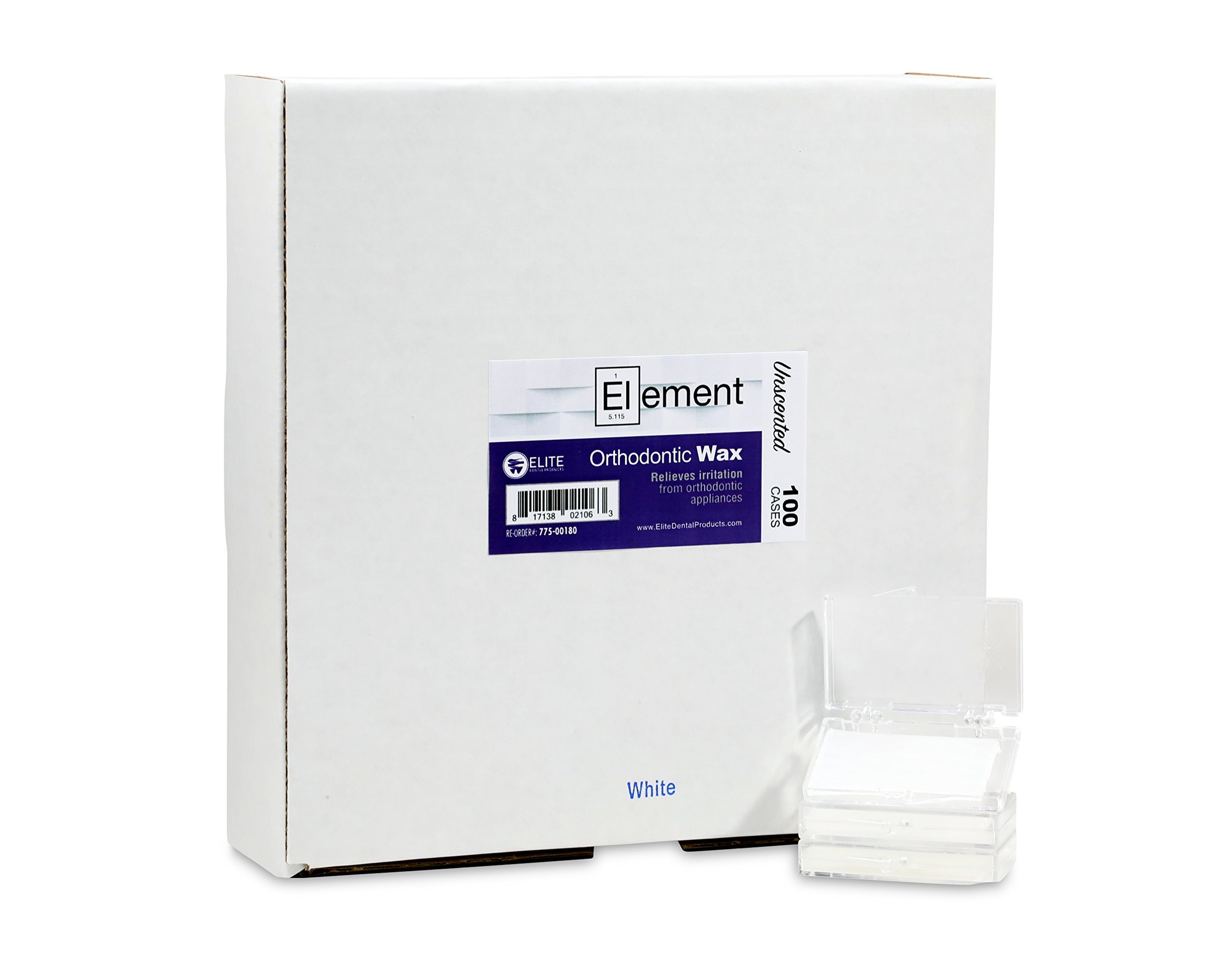Element Dental Orthodontic Wax 100 Pack Case-10 Colors/scents Available (White/Unscented)