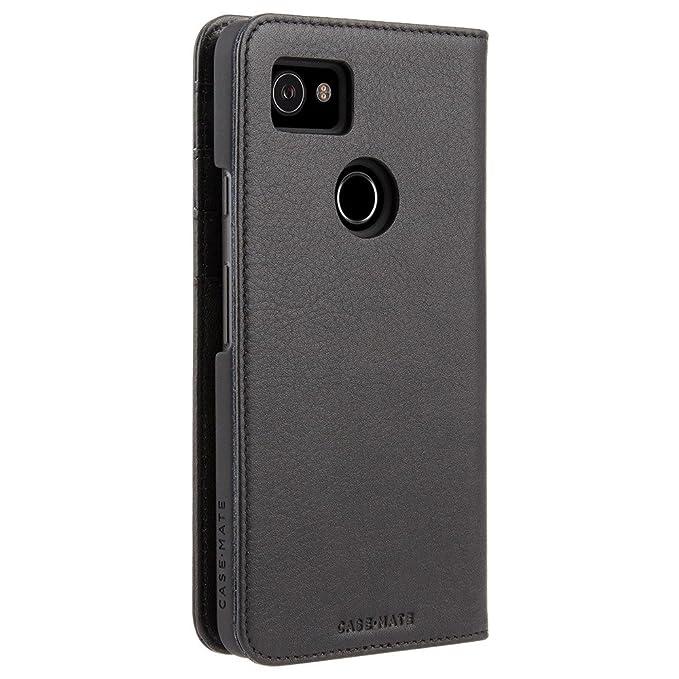 san francisco cc3fe 225cc Case-Mate - Google Pixel 2 XL Wallet Case - Wallet Folio - Leather Wallet -  ID + Cards + Cash - Protective Design for Pixel 2 XL - Black