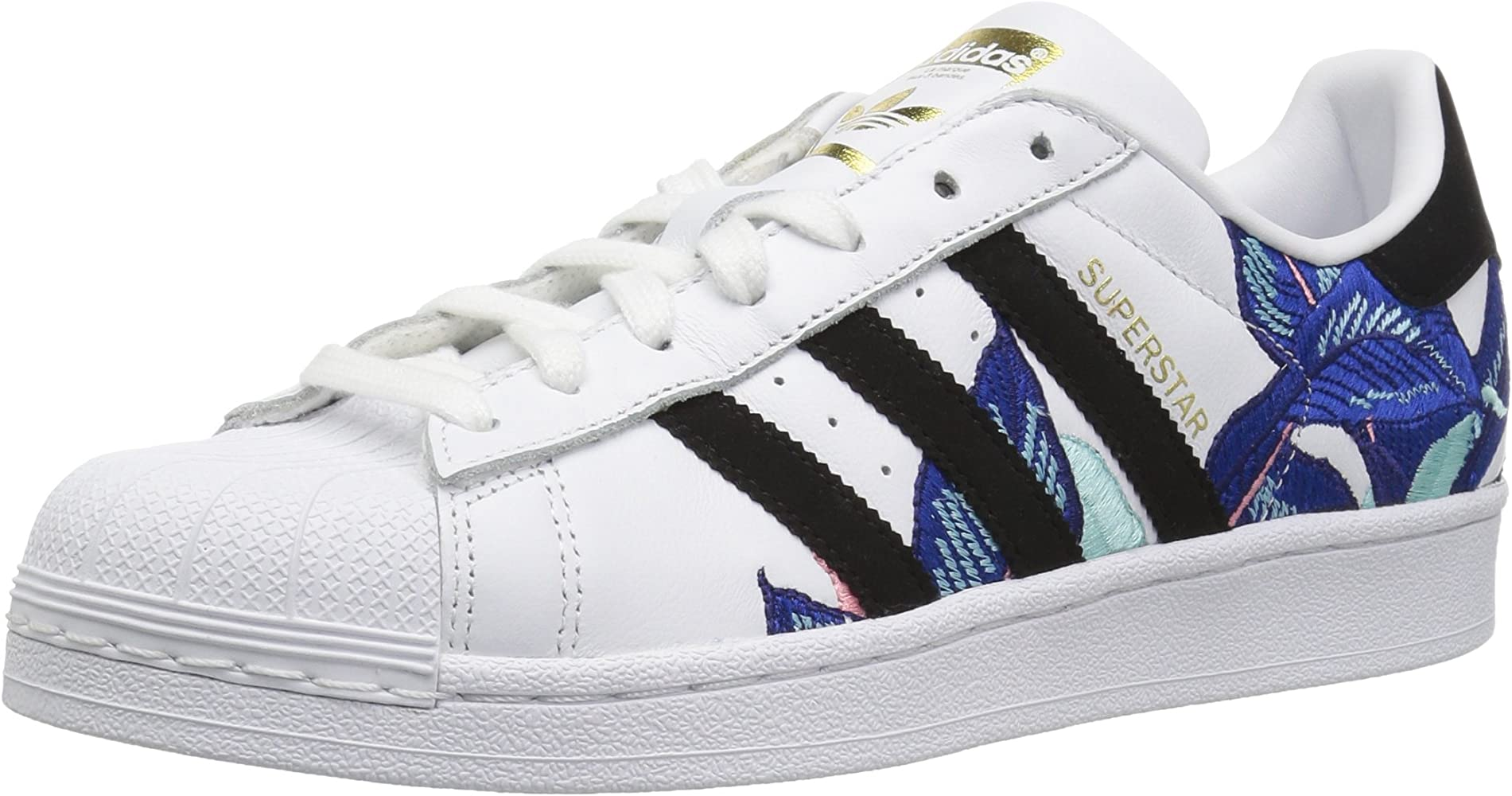 Adidas Womens Originals Superstar W White Black Gold