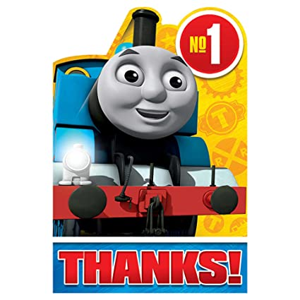 Amazon Com Shindigz Thomas The Train All Aboard Thank You Cards