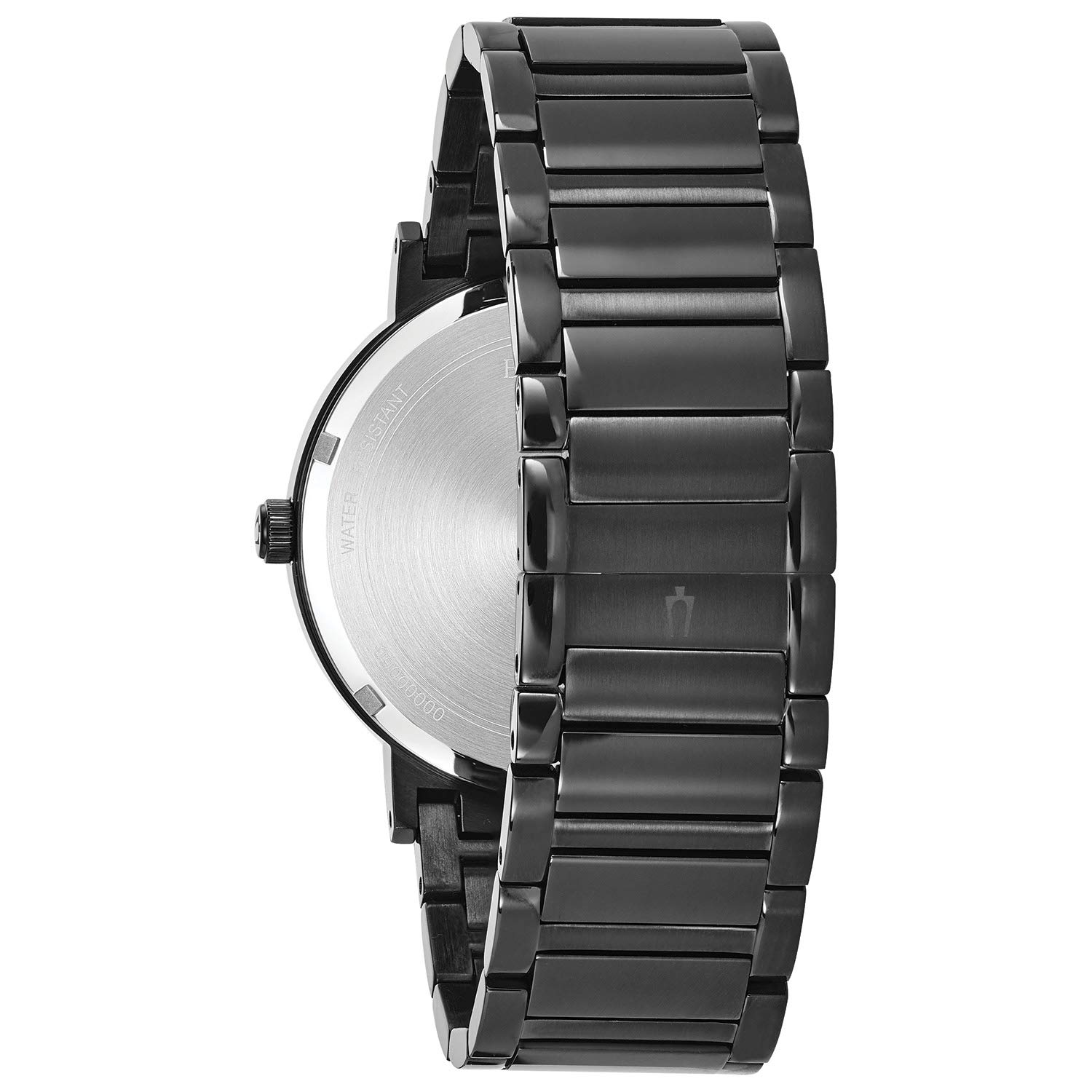 Bulova Men Modern Quartz Watch with StainlessSteel Strap Black 22 Model 98D144