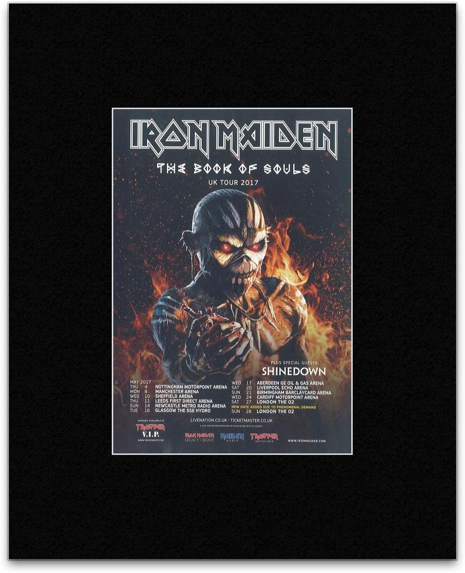 Iron Maiden The Book Of Souls Uk Tour 2017 New Date Mini Poster 40 5x30 5cm Amazon Co Uk Kitchen Home