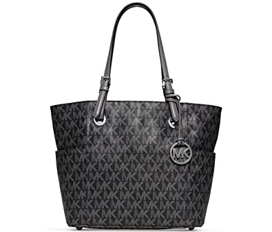 8a505642dc67 MICHAEL Michael Kors Jet Set Item East West Signature Tote Grey  Amazon.co.uk   Shoes   Bags