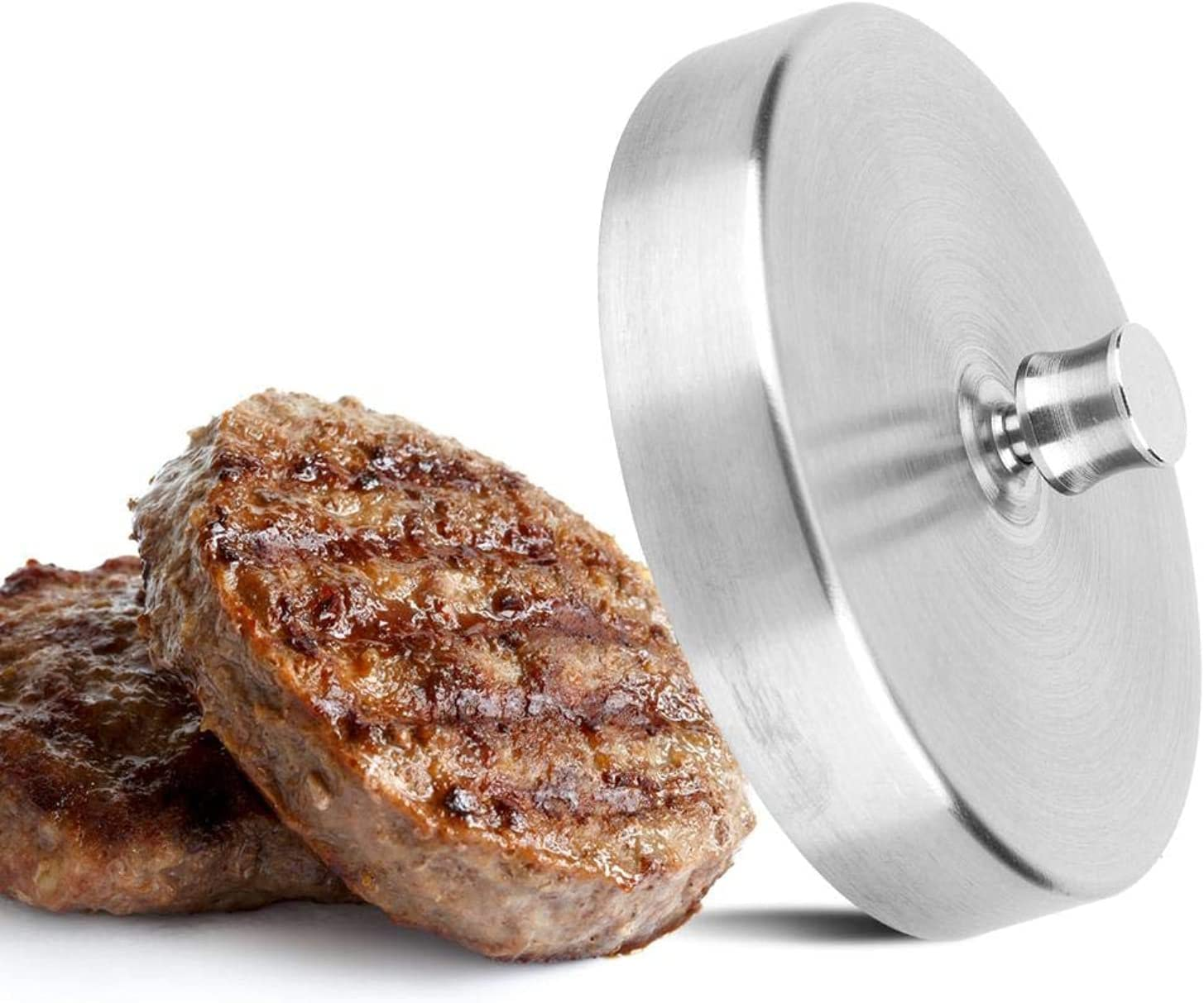 Stainless Steel Burger Meat Press Hamburger Pressing Mold Maker Kitchen Tool Burger, Bacon, Grill Press for Home