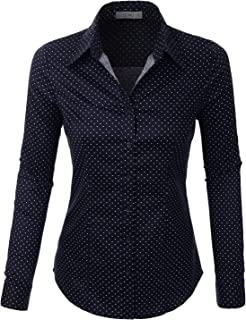 37039932572 LE3NO Womens Roll Up 3 4 Sleeve Button Down Shirt with Stretch L3NWT574A  Women s Clothing