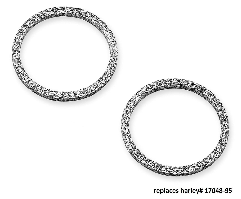 OCP Flat Pair Exhaust Gaskets For Harley-Davidson repl. OEM# 65324-83 OCP65324-83