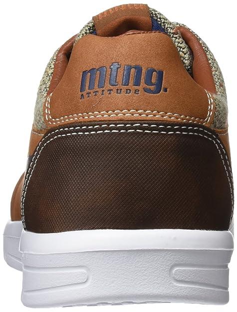 MTNG Jousef, Zapatos de Cordones Derby Hombre, Marrón (2T Suede Cuero/Leno Natural), 41 EU