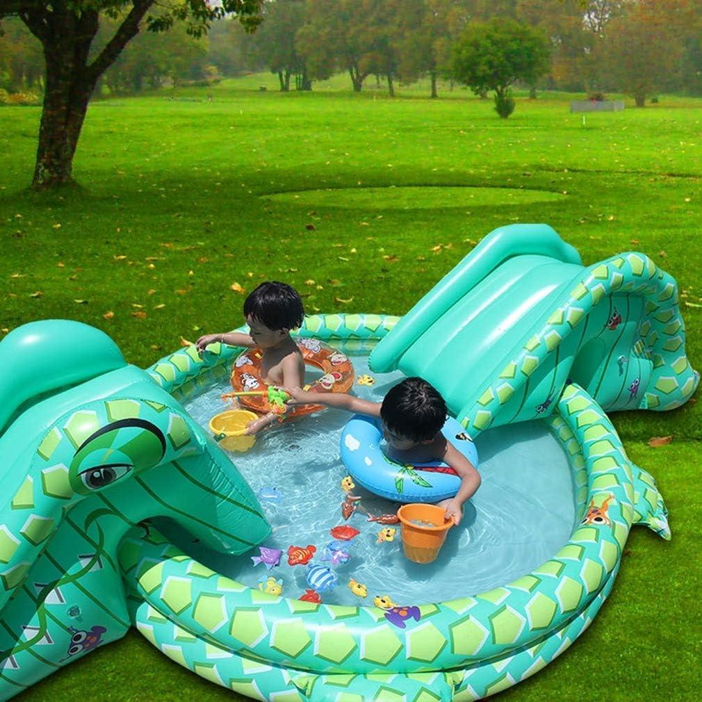 Gpzj Piscina Inflable Multifuncional para niños con Doble tobogán en Forma de cocodrilo Juego de cocodrilo para niños: Amazon.es: Deportes y aire libre