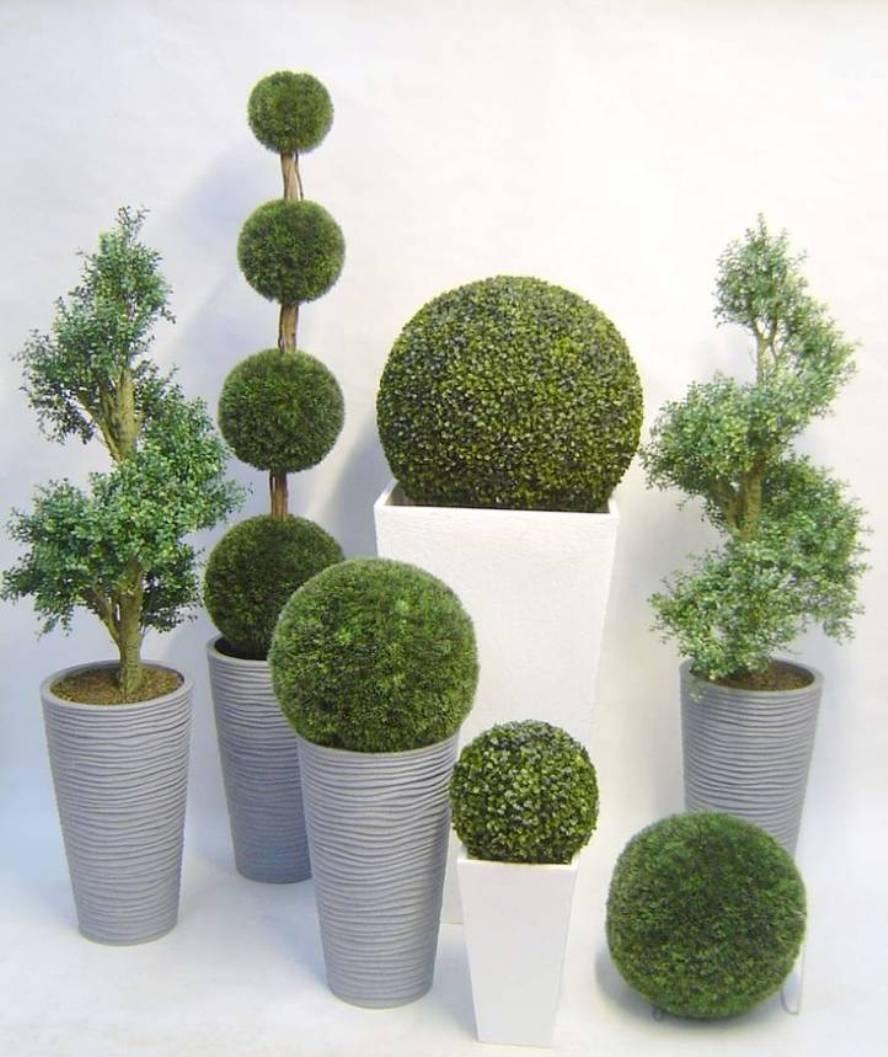 Fire4u Buchsbaum Kugel Buxus Künstlich Kunstpflanze Buchsbaumkugel