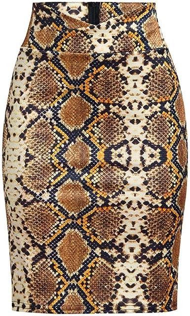 CANDLLY Faldas de Fiesta Mujeres Elegante como Piel de Serpiente ...