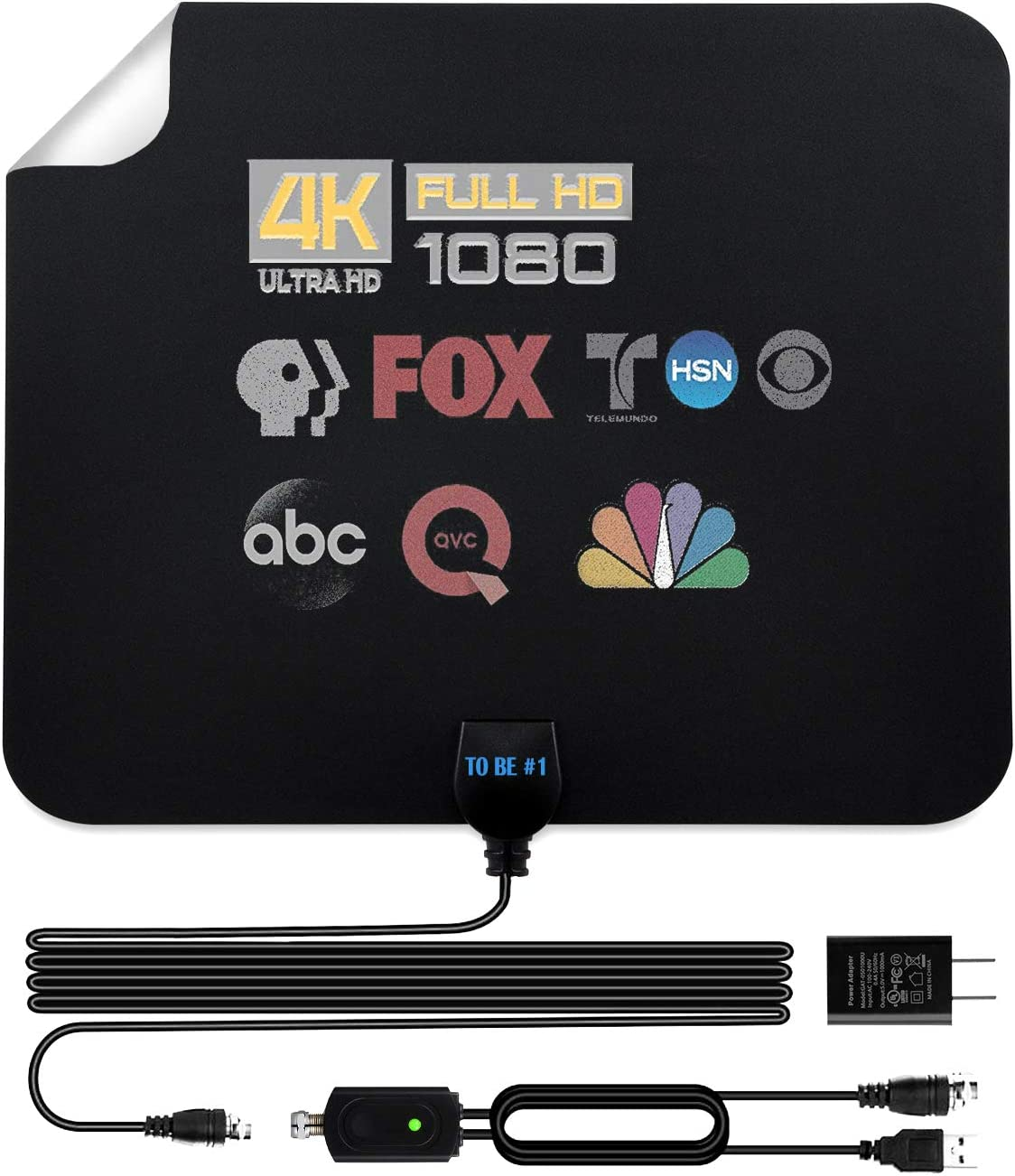 Indoor 1080P HD TV Antenna TV Digital HD Amplifier Antenna 200 Mile Range 2019