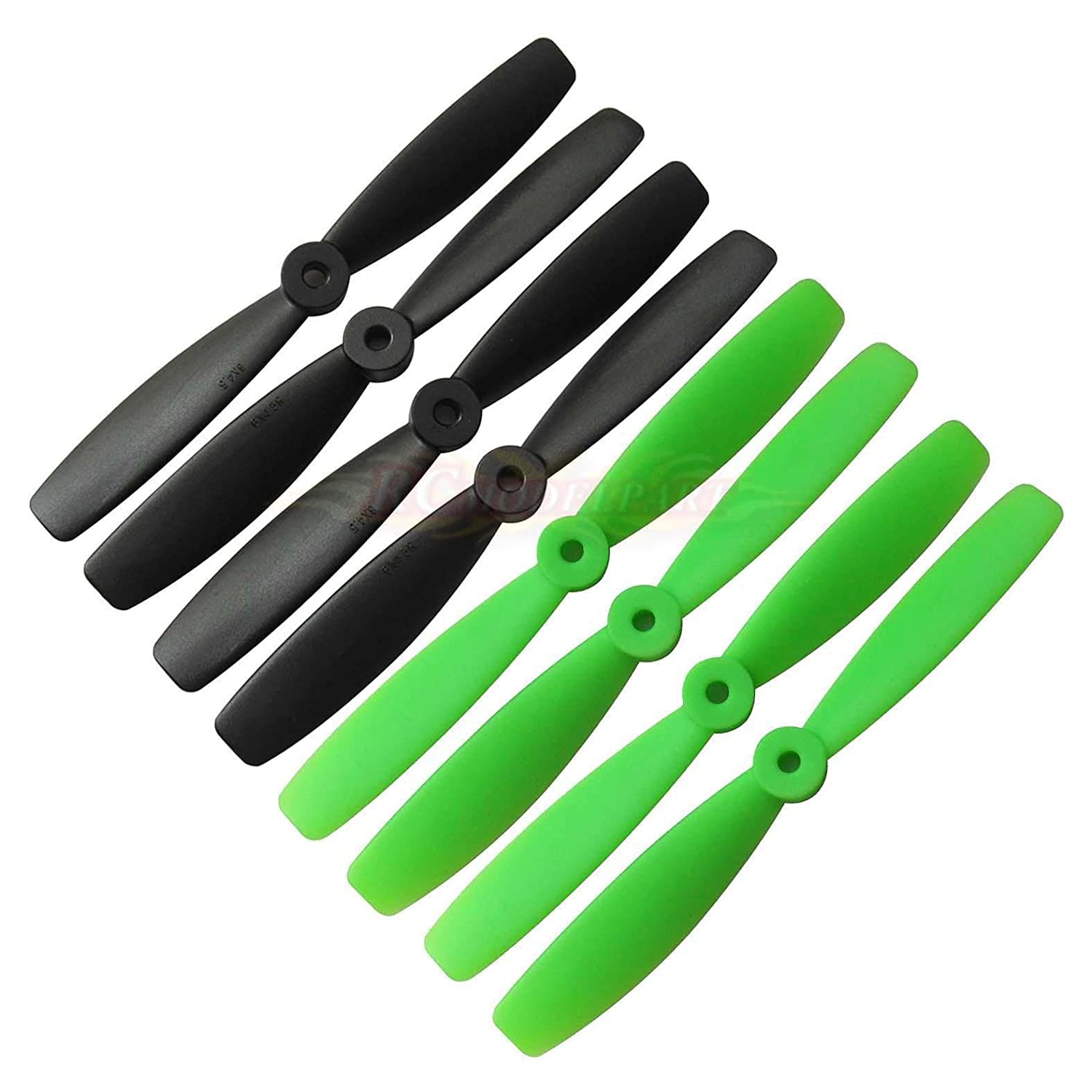 pack of 4 pairs Hobbypower 6045 Propeller CW CCW 6045 Props Black /& Green for Mini QAV250 TL250H TL250C TL280H TH280C
