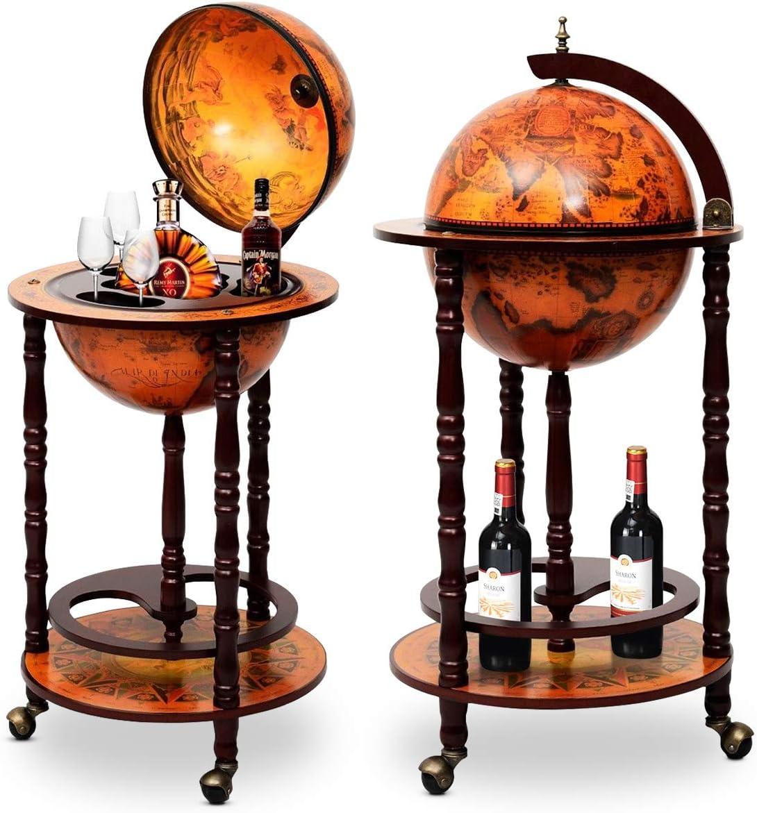 DREAMADE Globus Bar Barwagen - Mobile Cocktailbar kaufen
