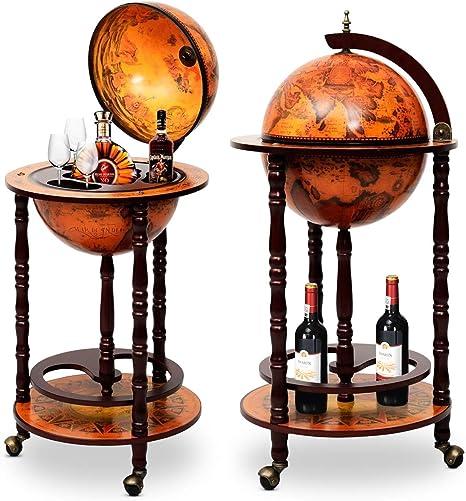 Globusbar Weltkugel Minibar Hausbar Flaschenregal Cocktailbar Dekobar Tischbar
