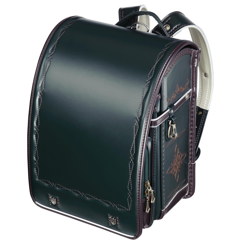 プレミアムフィットちゃんランドセル ナイト騎士(FIT-210) A4クリアファイル収納サイズ B00EL0HDKUグリーン×チョコ