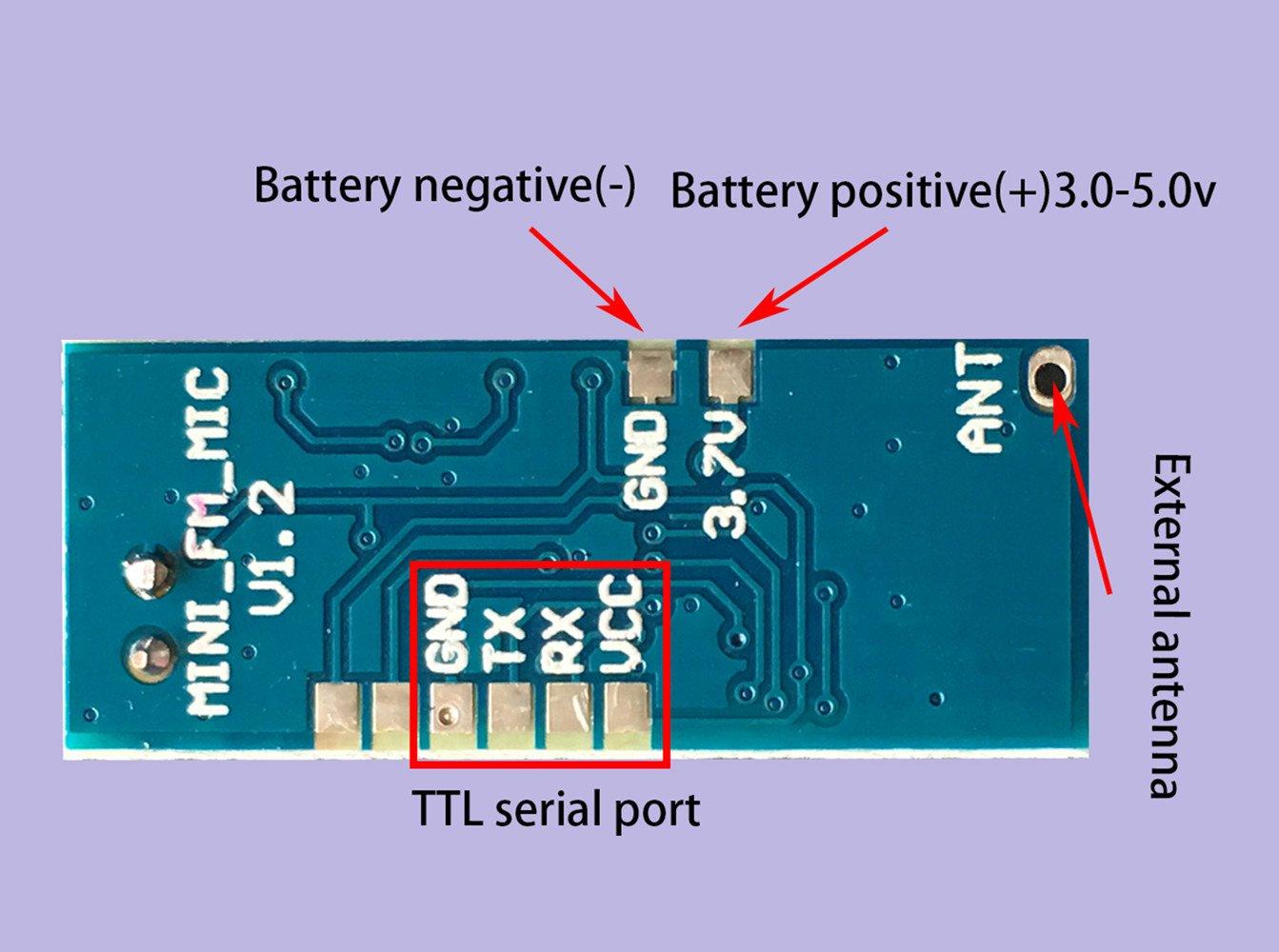 Mini Fm Wireless Microphone Module Micro Transmitter Small Power Pcb Layout Circuit Board Home Audio Theater