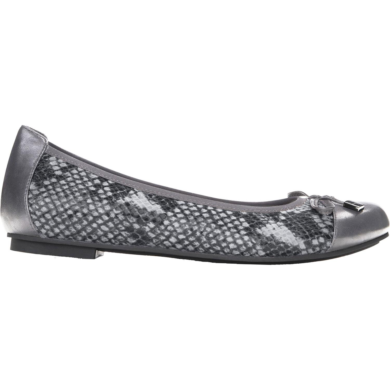 30cfe41643c1d Galleon - Vionic Women's Spark Minna Ballet Flat Grey Snake 11W