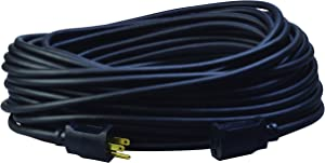 AgriPro 67729001 12/3 25-Foot Heavy-Duty 15 Amp SJTOW Farm/Workshop Extension Cord, Black