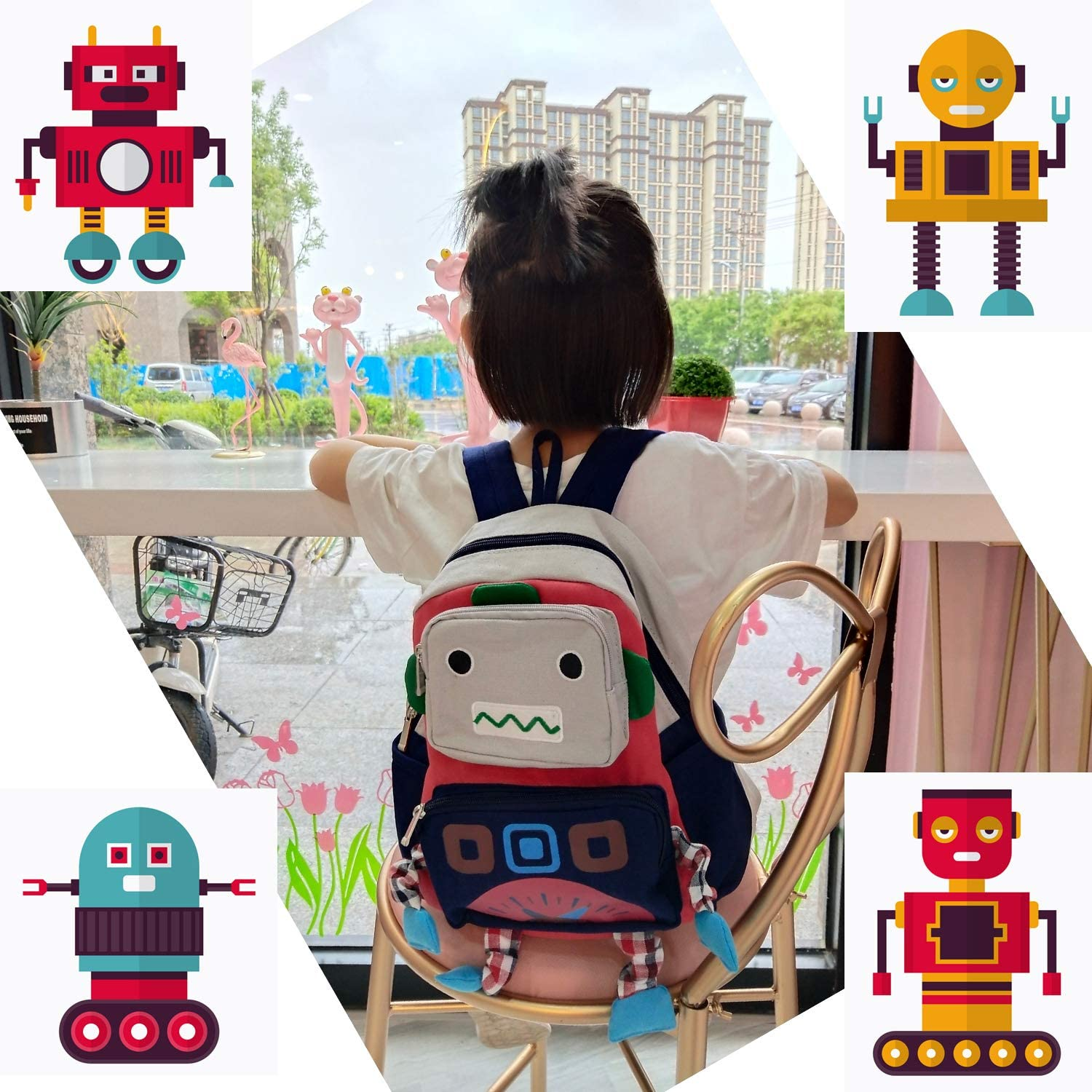 Kid Baby Safety Harness Toddler Child Harnesses Reins Cute Robot Backpack