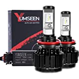 YUMSEEN LED Headlight Bulbs Conversion Kit-H11(H8,H9),60w 6,400Lm 6000K Cool White Philips Light Source - 2 Yr Warranty (H11(H8,H9))