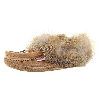 ab4dc1354 Amazon.com | SoftMoc Women's Rabbit Fur Fleece Lined Moccasin | Slippers