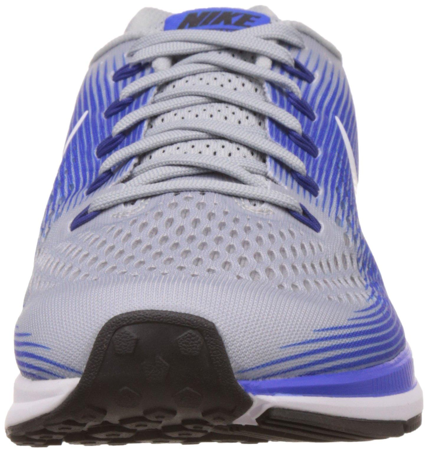 NIKE Mens Air Zoom Pegasus 34 Running Shoe (11 M US, Wolf Grey/White/Racer Blue) by Nike (Image #4)